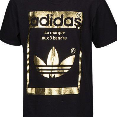 91237d8f98731 Adidas Originals Black Gold Superstar Tee, Men's Fashion, Clothes ...