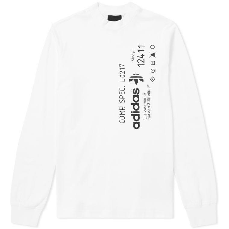 b9a14ce2 ADIDAS ORIGINALS x ALEXANDER WANG GRAPHIC TEE WHITE, Men's Fashion ...