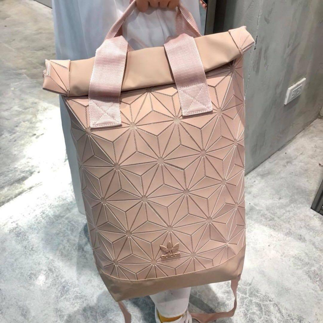 Adidas x Issey Miyake 3D Roll Top Backpack in Pink Ash