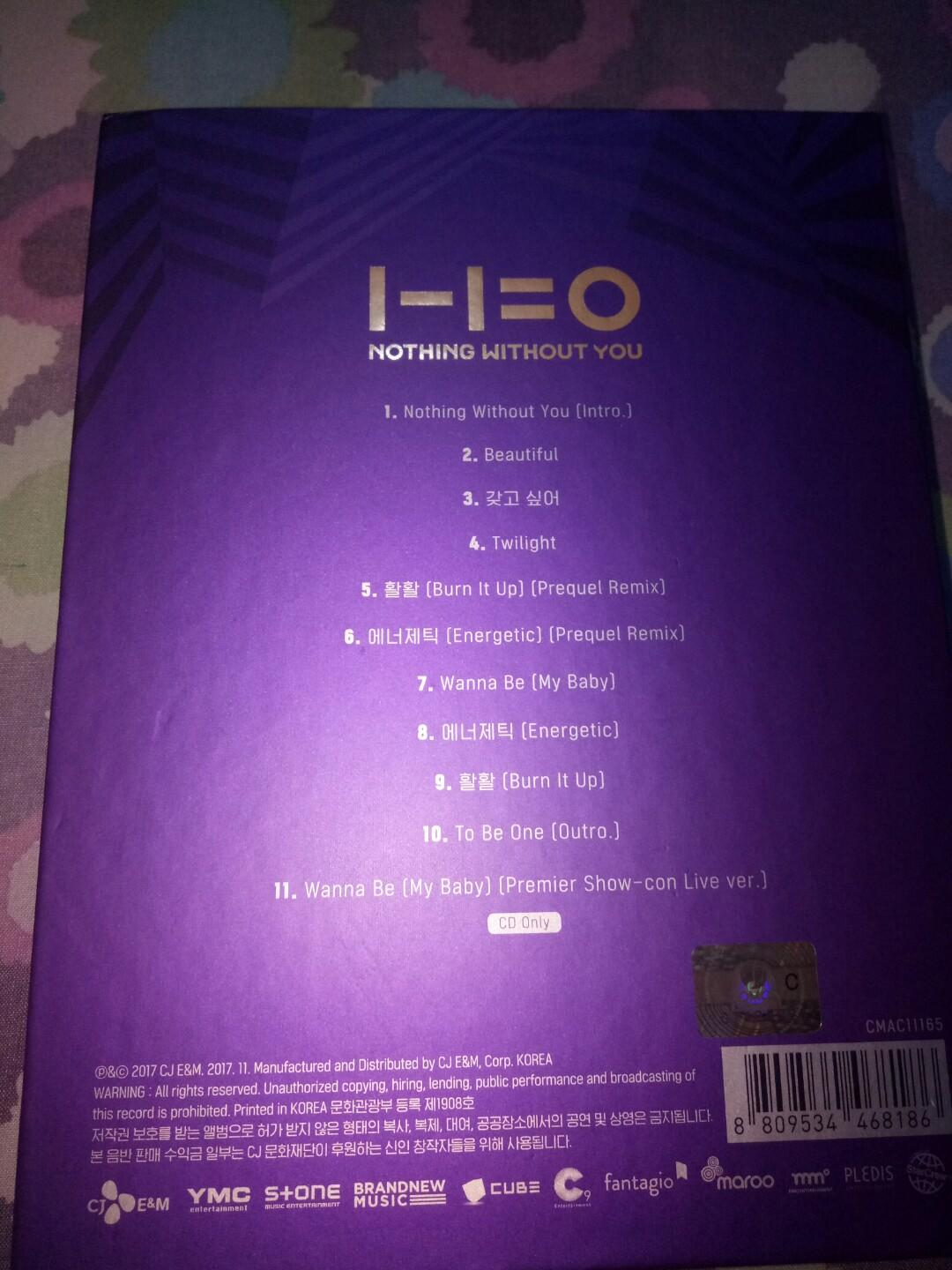 #mauthr Album Wanna One Nothing Without You Wanna ver.