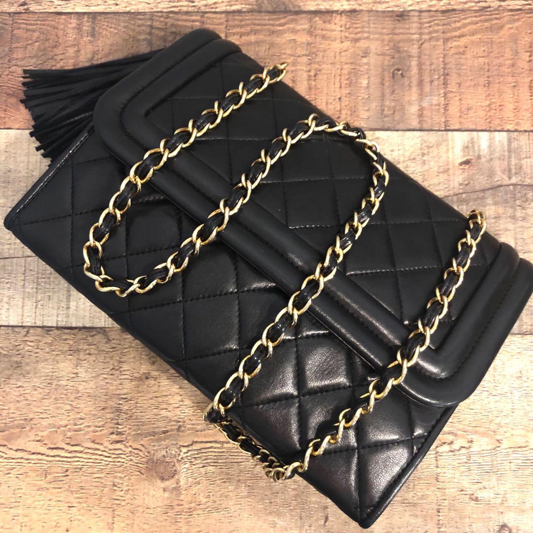 f25677f2ff07 Authentic Chanel Lambskin Camera Half Fold Flap Bag w 24k Gold ...