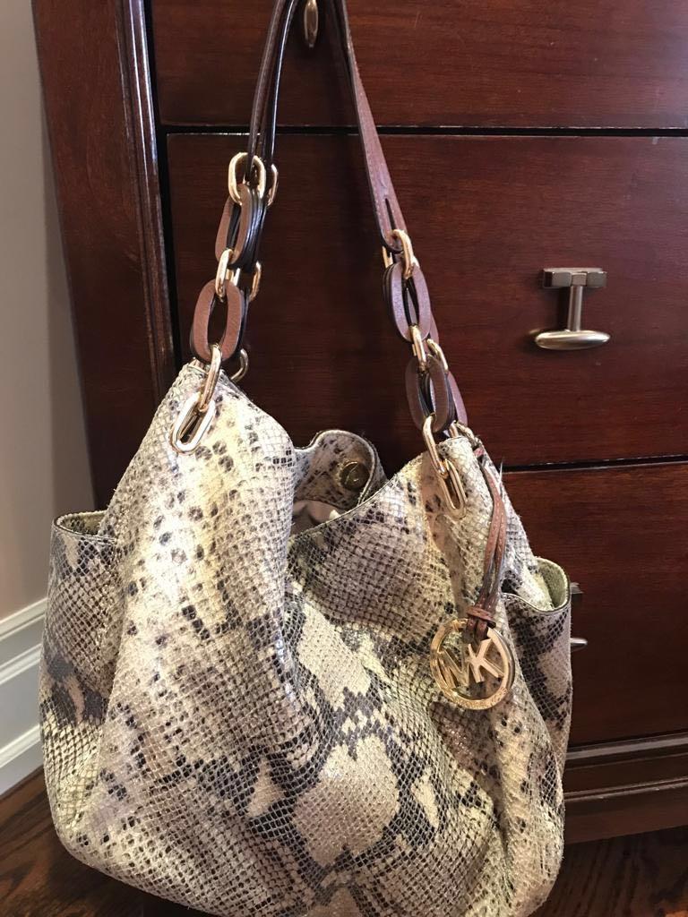 Authentic Michael Kors Snakeskin Pattern Handbag