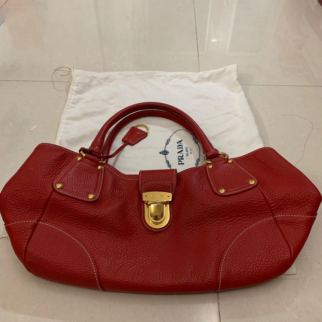 690333701ec6 Authentic Prada Red Bag