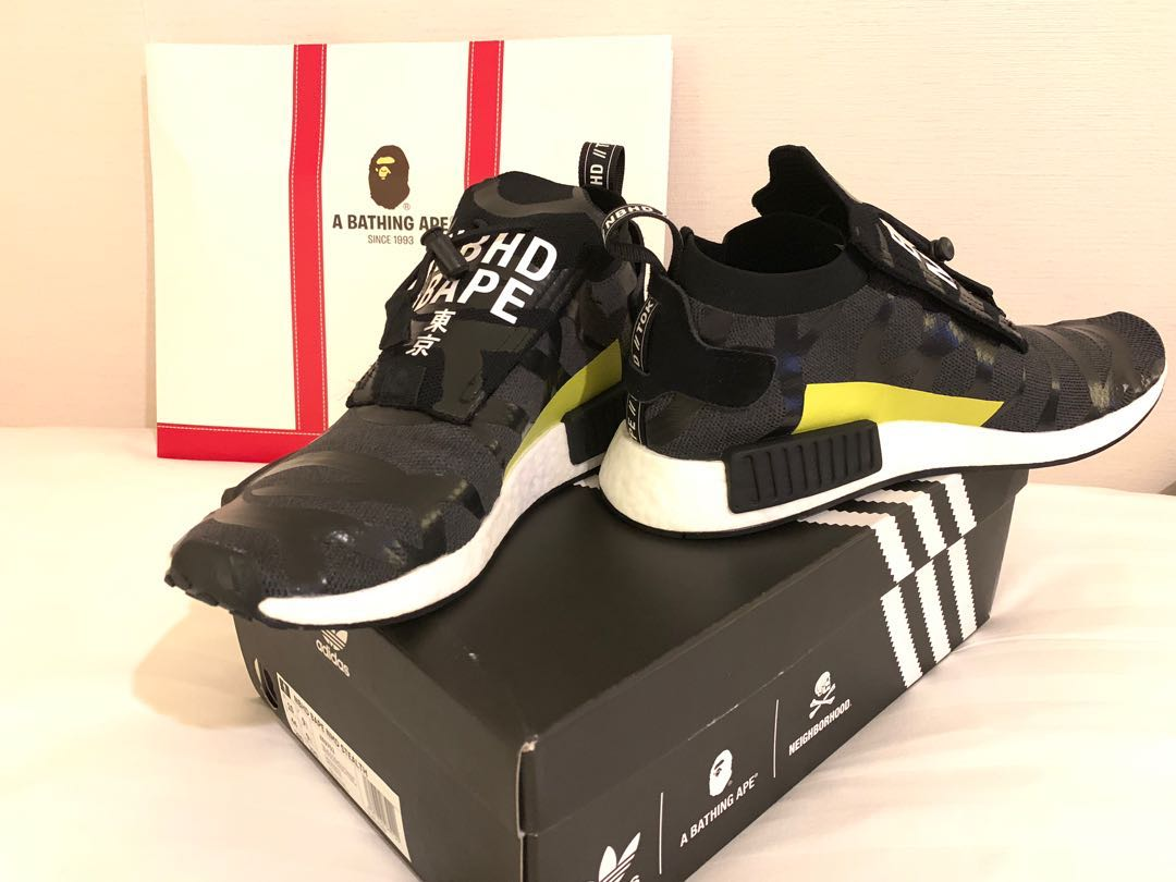 a9d6b4761 Bape Neighbourhood ADIDAS NMD Stealth