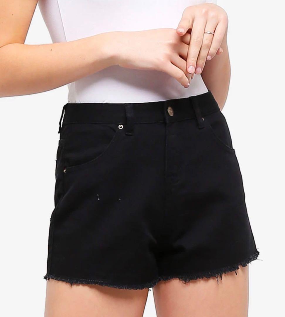 Basic High Rise Denim Shorts