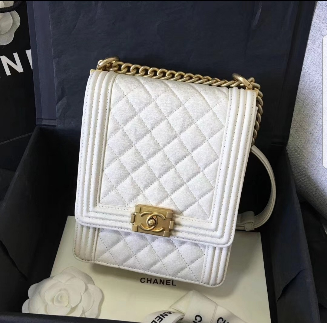 142c24b99fb9 BN Chanel Boy, Luxury, Bags & Wallets, Handbags on Carousell