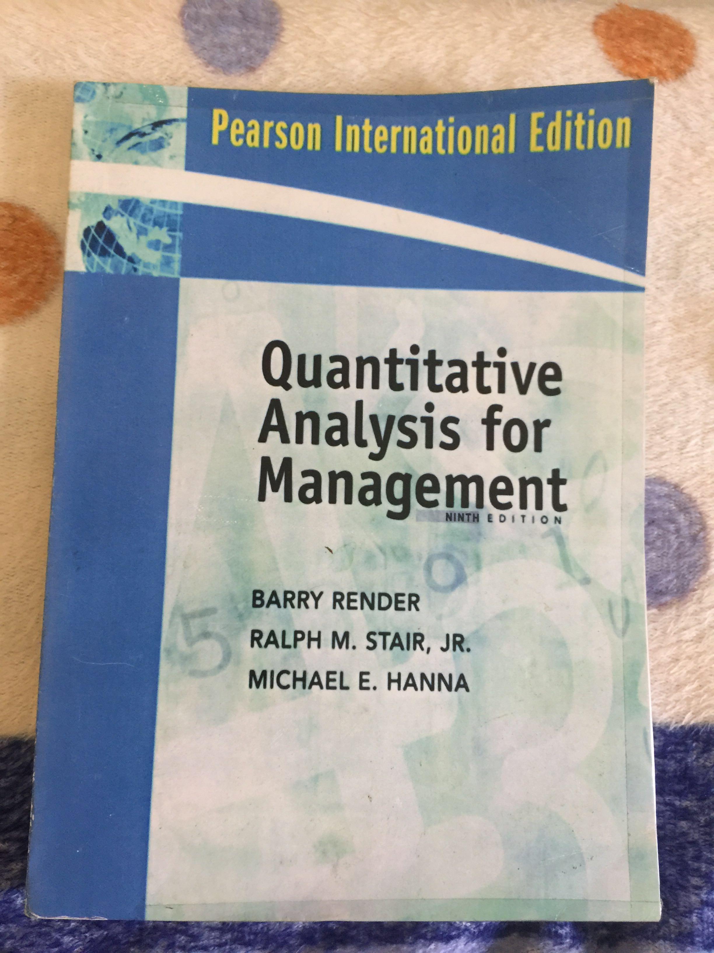 Buku Kuliah Manajemen Bisnis Quantitative Analysis For Management Manajemen Kuantitatif Barry Render Dkk Bahasa Inggris Buku Alat Tulis Buku Di Carousell