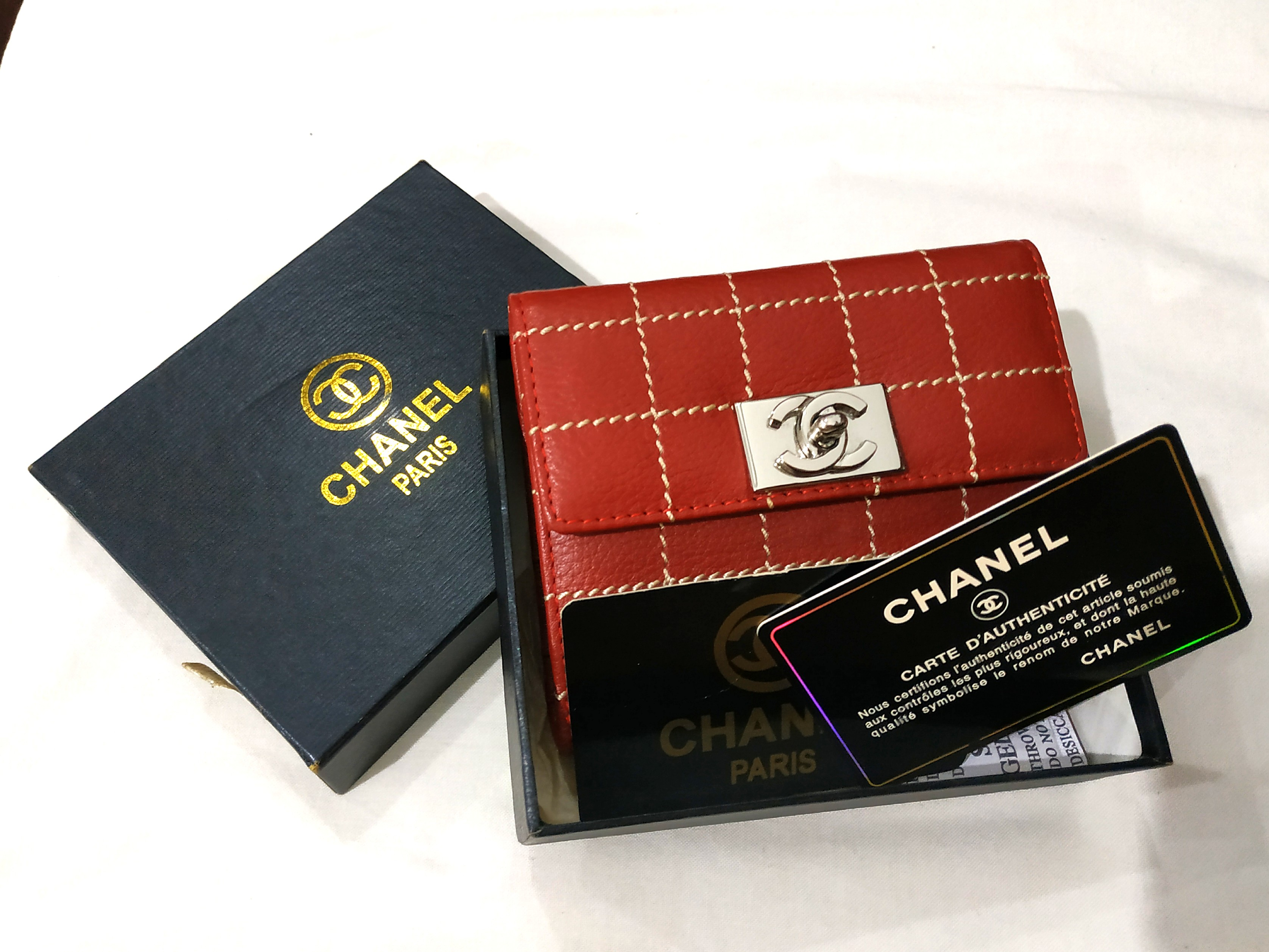 dfe8b19bb03e Classic Burgundy Chanel Wallet, Luxury, Bags & Wallets, Wallets on Carousell