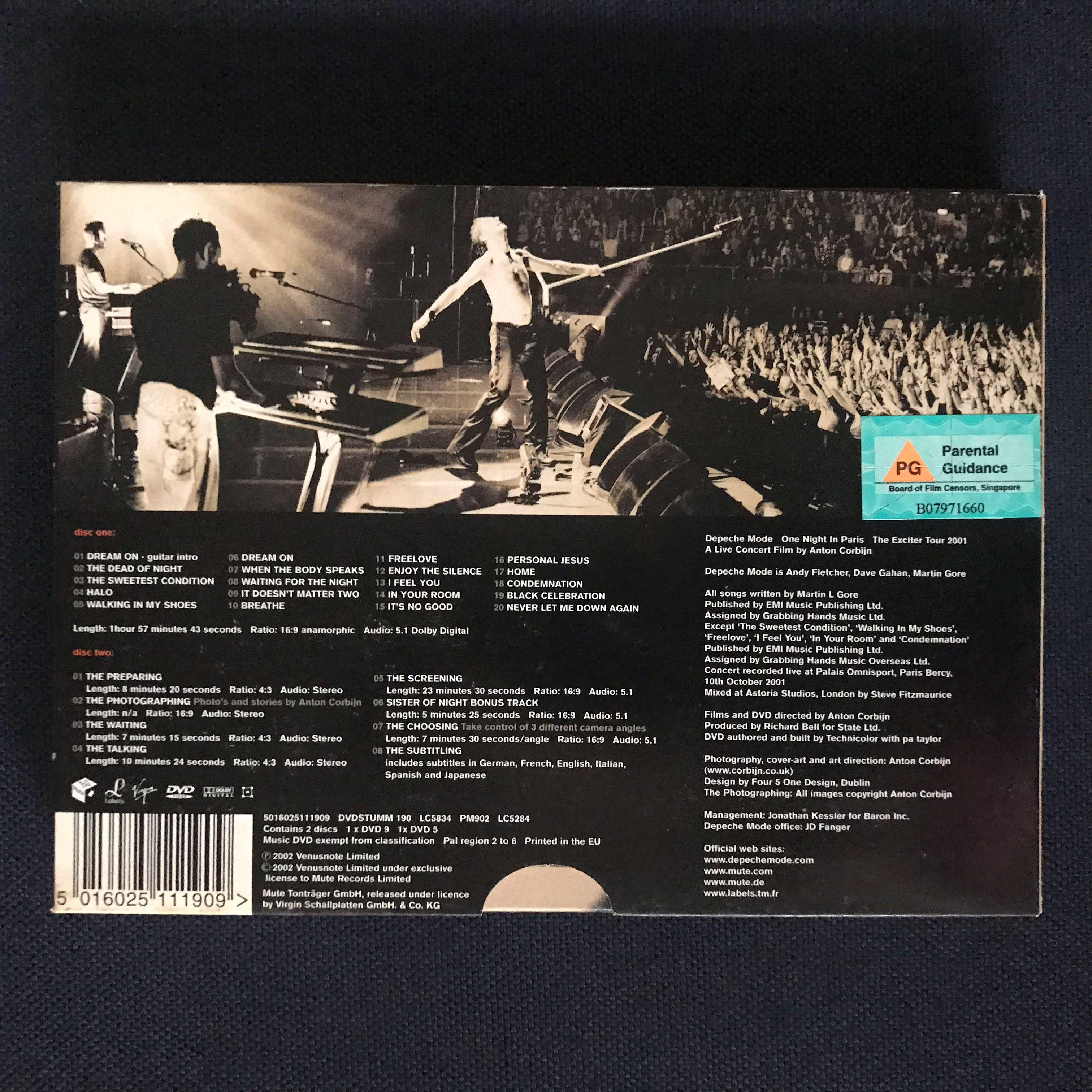 Depeche Mode One Night In Paris The Exciter Tour Dvd