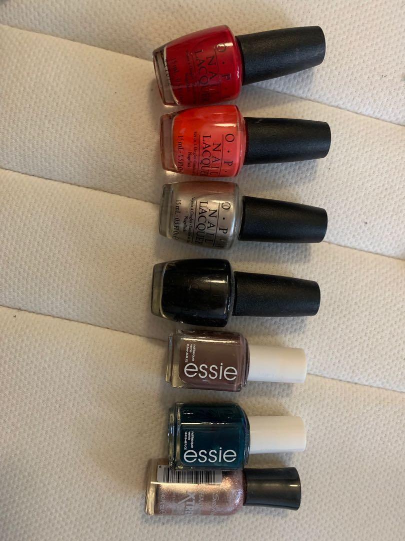 ESSIE and OPI nail polish