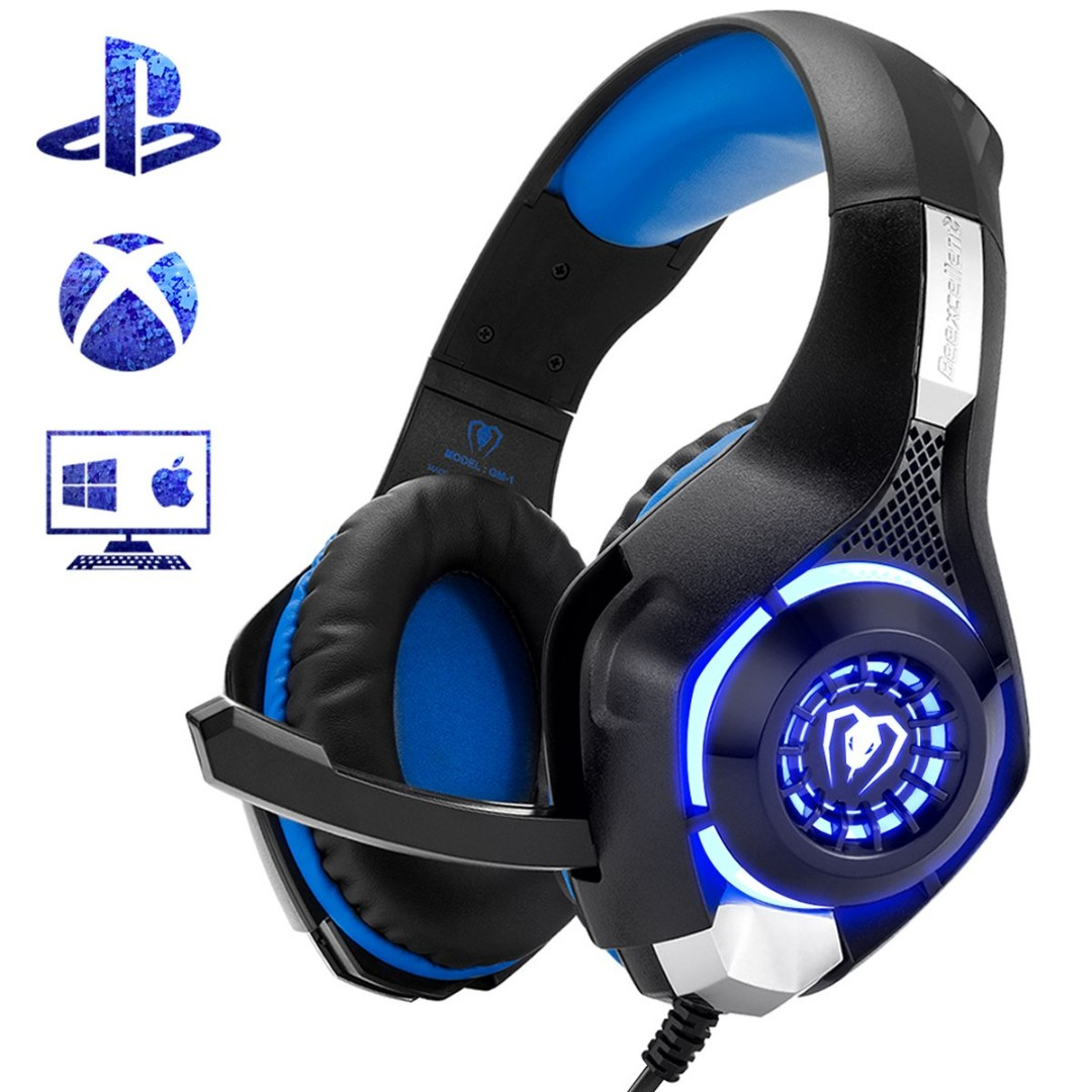 b7f86f364ca Gaming Headset for PS4 Xbox One, Comfort Noise Reduction Crystal ...