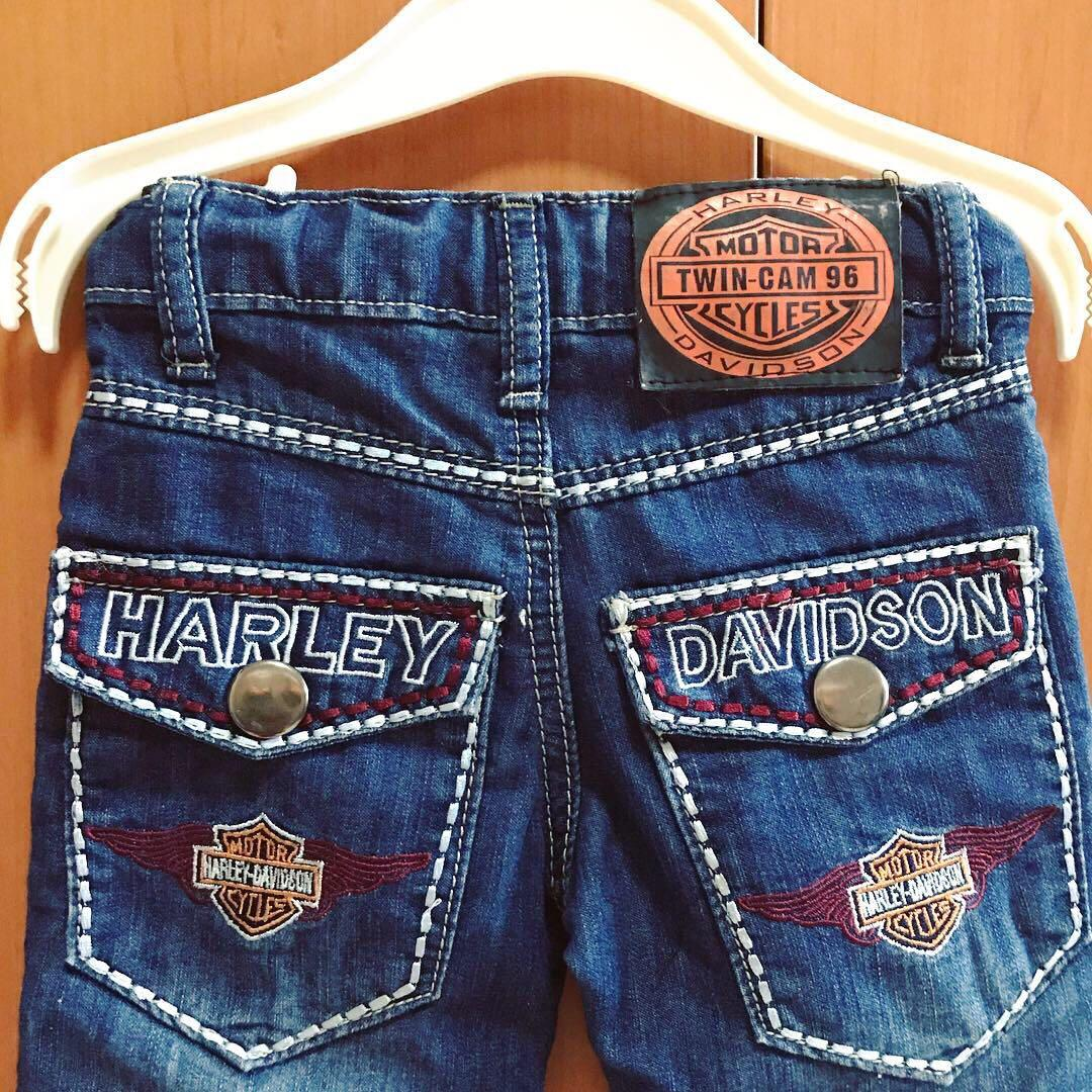 HARLEY DAVIDSON BABY JEANS WITH ADJUSTABLE BAND