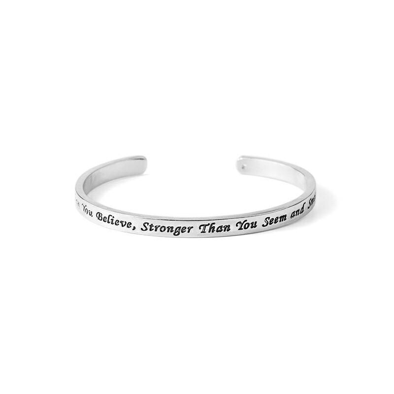 Inspirational Bangle You are Braver Than You Believe