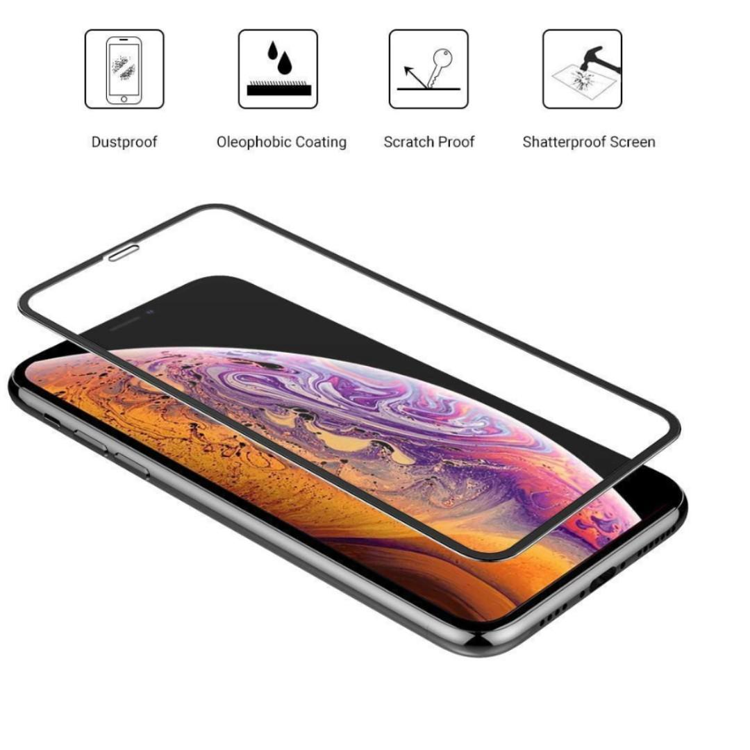 Iphone XS / XS Max Full Coverage Tampered Glass