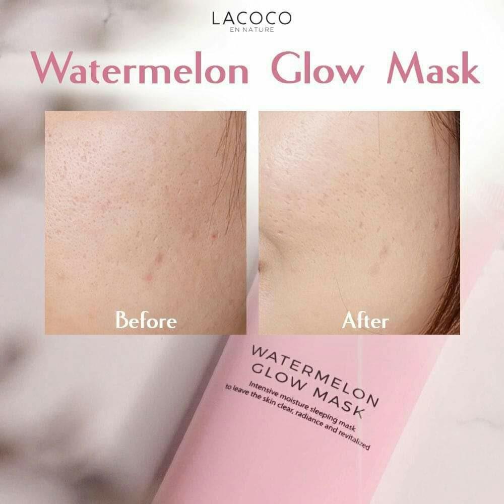 LACOCO watermelon Glow mask original NASA cocok tuk semua jenis kulit