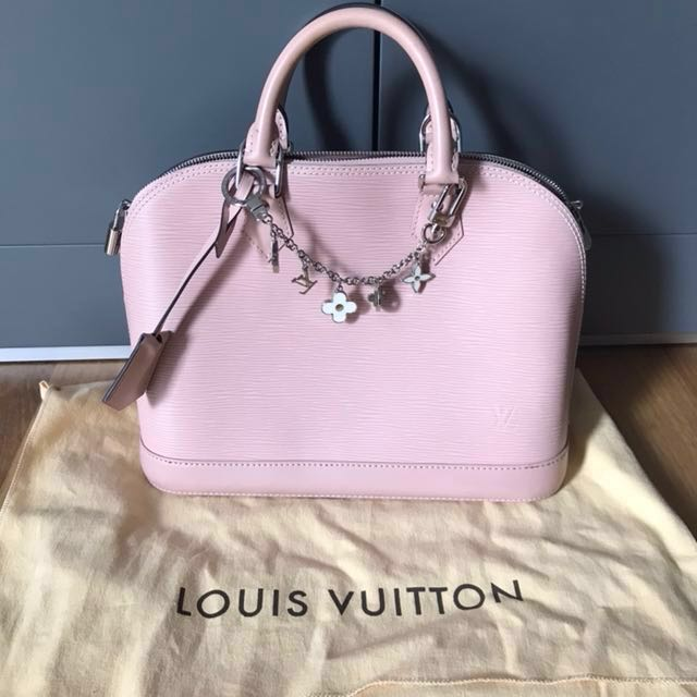 1bc9697218e0 Louis Vuitton Alma PM Bag in Epi Leather (Pink) with Bag charm ...