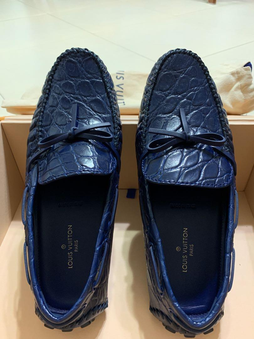 60c50489737 Louis Vuitton Arizona crocodile skin shoes, Men's Fashion, Footwear ...