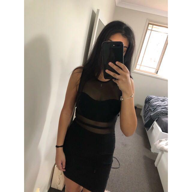 Mesh black dress