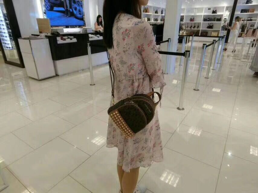 05009fc42a9a09 Michael Kors Mini Studded Rhea Backpack Preorder, Luxury, Bags & Wallets,  Backpacks on Carousell