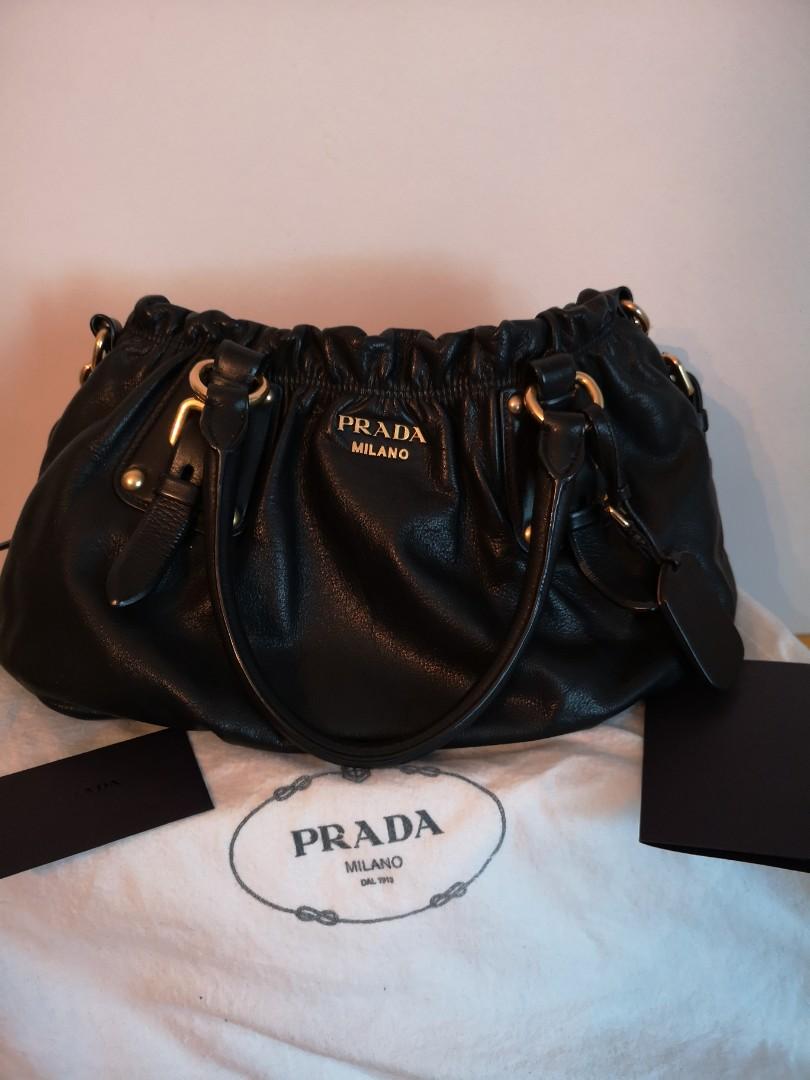 a5839acfbb63f1 PRADA SOFT CALF NERO, Luxury, Bags & Wallets, Handbags on Carousell