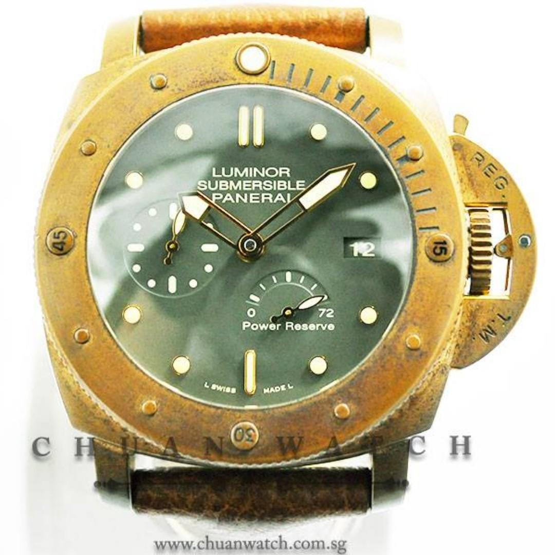 Pre-Owned Panerai Luminor Submersible 1950 3-Days Power-Reserve 'Bronzo' 47mm Pam 507 P  (Limited Edition of 1000 Pieces Only)