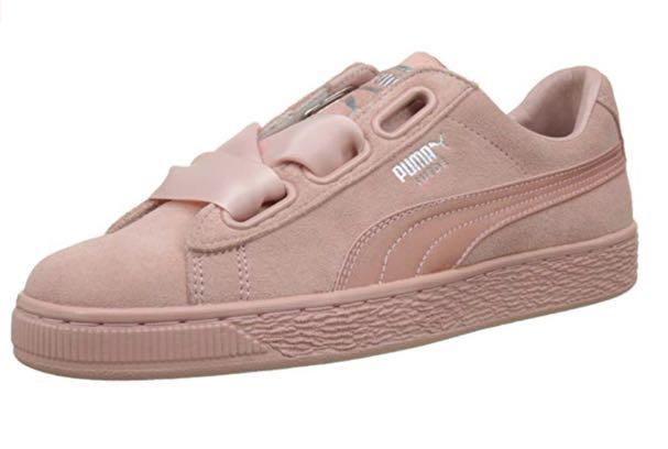 promo code c8cf2 ea7cf Puma Basket Heart coral sneakers