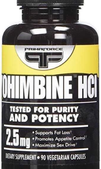 RARE Primaforce Yohimbine HCL Sealed 2.5mg 90 Caps - Fat Burner