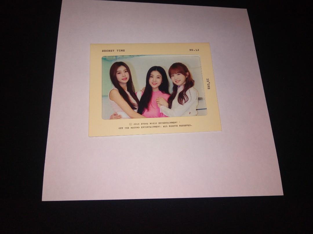 [Ready stock] Izone secret time photobook loose item