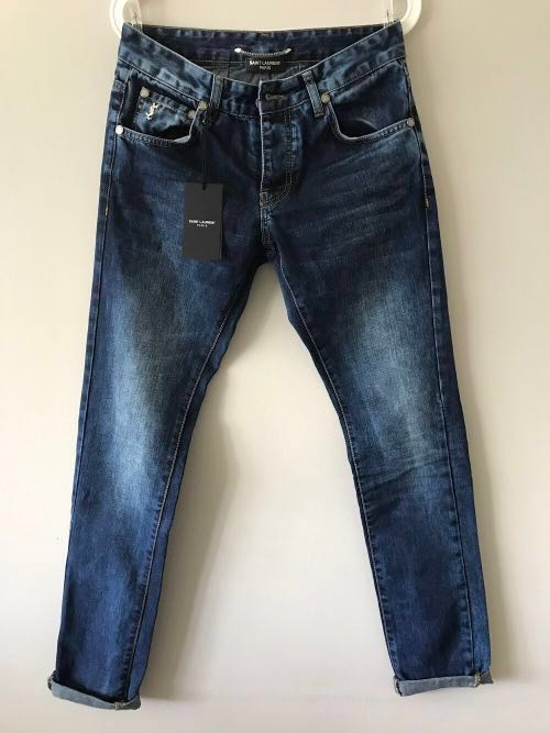 c29cb5193e0 Saint Laurent Paris Distressed Jeans, Men's Fashion, Clothes ...