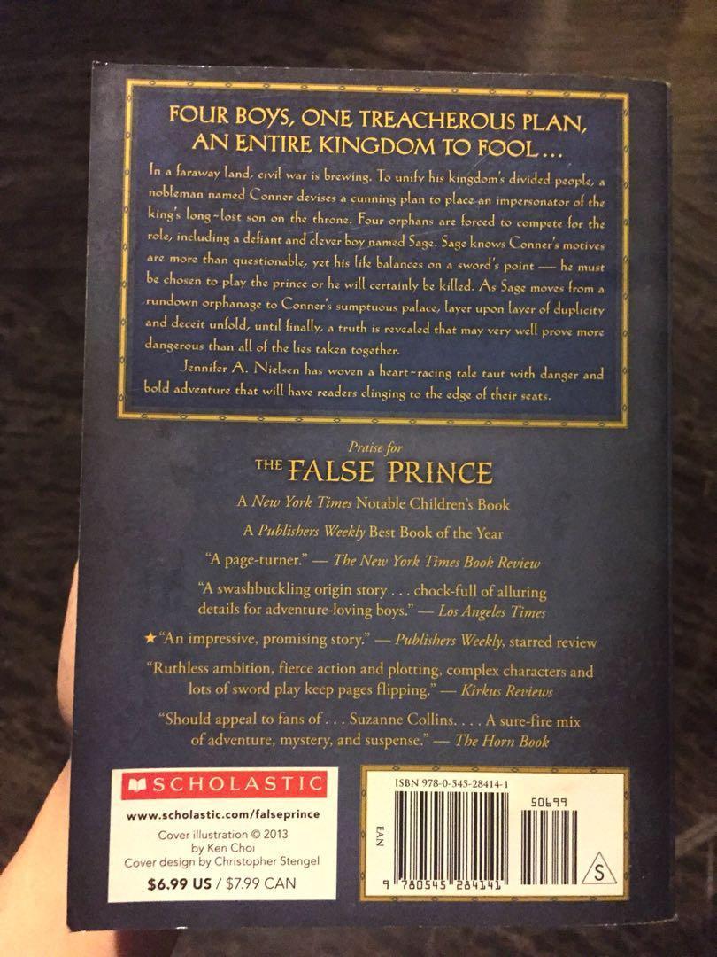 The False Prince by Jennifer A. Nielsen #APR10