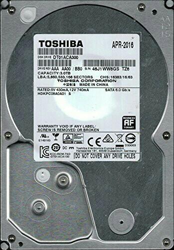 Toshiba 3TB Desktop Hard Disk hdd 2tb 1tb 8tb 硬碟 硬盤