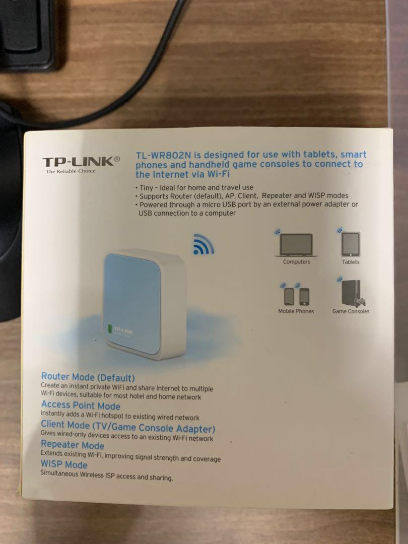 TP-LINK 300Mbps Wireless N Nano Router White Blue TL-WR802N