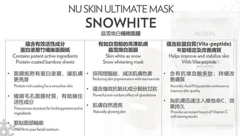 Ultimate Nuskin Snow White Mask