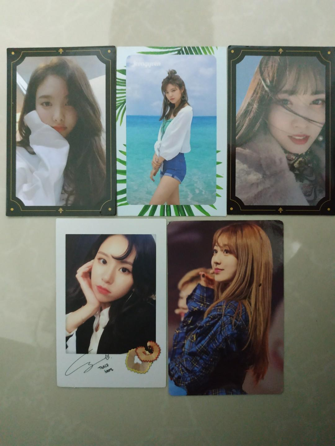 [WTS] TWICE The Year of Yes, Dance The Night Away, Twicetagram and Super Event DVD photocard