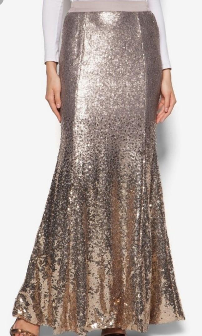 Zalia Gradient Sequin Skirt