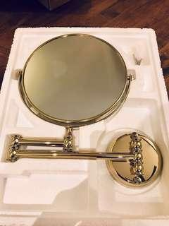Beauty Mirror for Makeup / Shaving (Gold)
