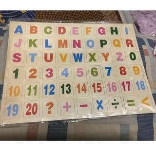 兒童數字英文數學 磁石板 教育板 Magnetic board