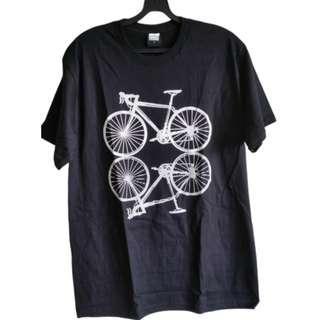 Men Cotton Bicycle Graphic T Shirt L Size