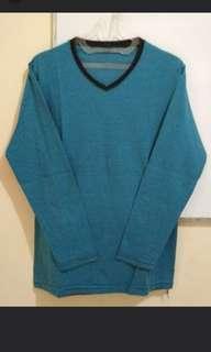Kaos GAP Lengan Panjang (Biru Garis)