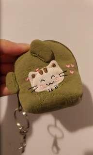 🚚 布媽手工貓咪鑰匙圈包小錢包