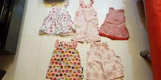 Part 3 - Used condition Newborn Baby Girl Apparel Dress. 0 to 3 months old