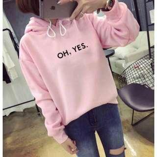 Sweater yes bahan baby tery fit L