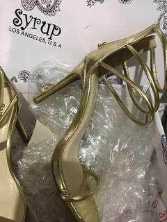 Ladies Heels Gold