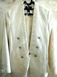 WOMAN BLAZER H&M BROKEN WHITE