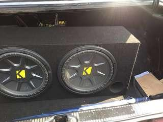 "Kicker 10"" subwoofer with box"