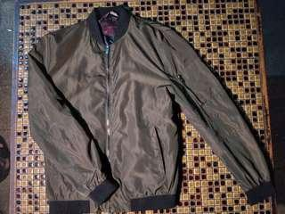 Zara Green Bomber Jacket