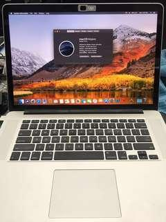MacBook Pro 15-inch Retina mid 2015