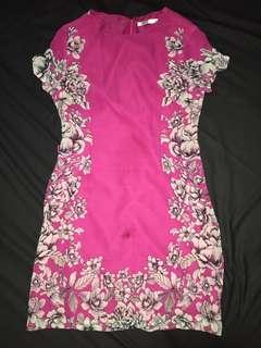Accent floral dress