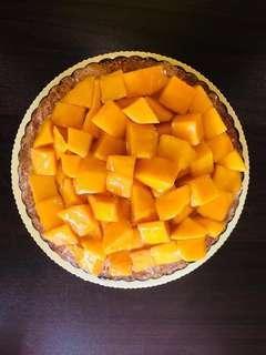 "[Seasonal] 9"" Mango Sticky Rice Tart"