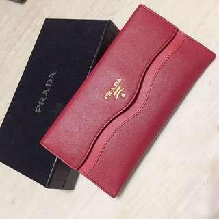 🚚 Prada桃粉色信封包9成新